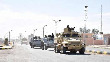 مدرعات تابعة للجيش المصري