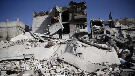 مدينة دوما، الغوطة الشرقية، ريف دمشق ، سوريا 5 مارس 2018
