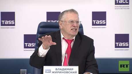 جيرينوفسكي يتحدث عن برنامجه الانتخابي
