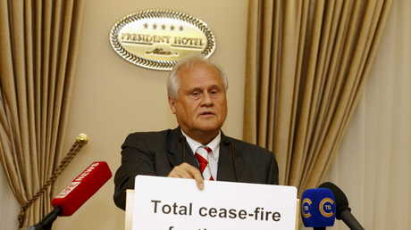مارتن سايدك، المبعوث الخاص لمنظمة الأمن والتعاون الأوروبي إلى مجموعة الاتصال الثلاثية المعنية بتسوية النزاع في جنوب شرق أوكرانيا
