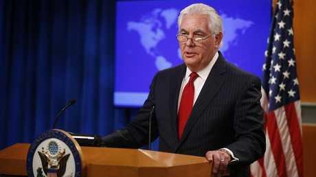 وزير الخارجية الأمريكي المقال ريكس تيلرسون