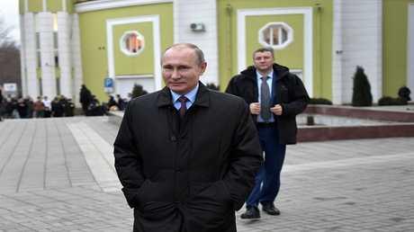 بوتين خلال زيارة عمل إلى جمهورية داغستان الروسية، 13 مارس 2018