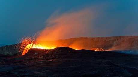 تسجيل صوت ظاهرة بركانية مرعبة لأول مرة في العالم (فيديو)