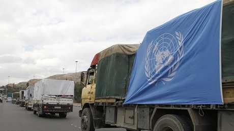 سيارات تحمل مساعدات إنسانية تابعة للأونوروا - أرشيف