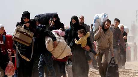 خروج المدنيين من الغوطة الشرقية بسوريا