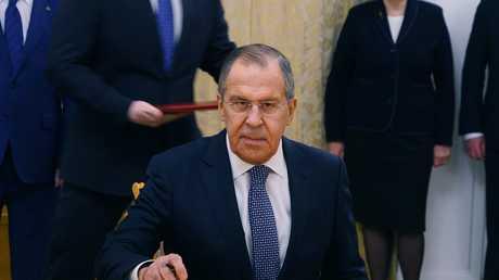 وزير الخارجية الروسي، سيرغي لافروف (صورة أرشيفية)