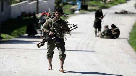"""مقاتل تابع لقوات """"غصن الزيتون"""" -عفرين، سوريا"""
