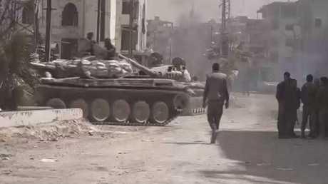 عملية للجيش السوري نحو بلدة حزة بالغوطة