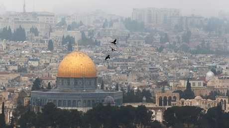 مسجد قبة الصخرة في مدينة القدس - أرشيف