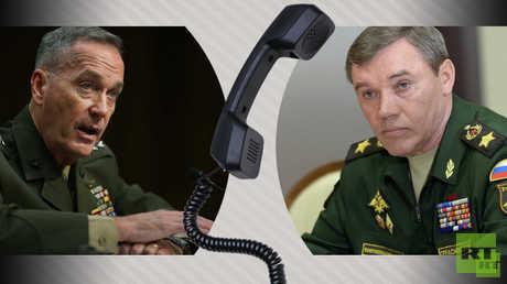 الجنرال فاليري غيراسيموف رئيس هيئة الأركان ونظيره الأمريكي جوزيف دانفورد