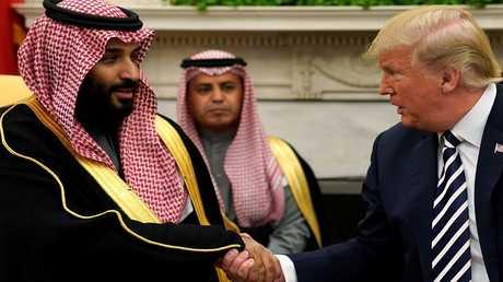 الرئيس الأمريكي ترامب وولي العهد السعودي بن سلمان