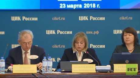 لجنة الانتخابات الروسية: العملية الانتخابية تماشت مع كافة معايير المنافسة والشفافية