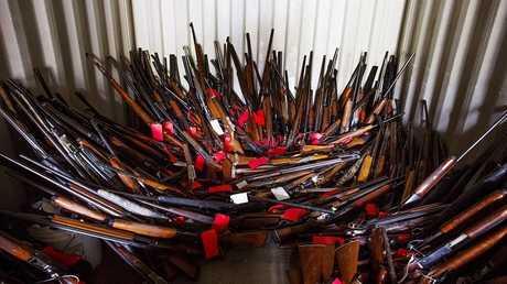 أرشيف - مخزن أسلحة فردية في الولايات المتحدة