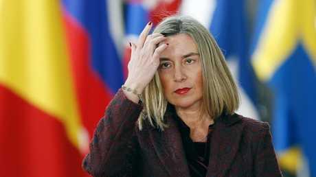المفوضة العليا للاتحاد الأوروبي للشؤون الخارجية والأمنية فيديريكا موغيريني