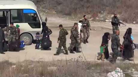 دفعة سادسة من المسلحين تخرج من الغوطة