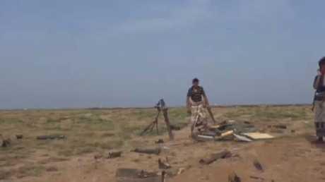 جبهة قتال عند تخوم تعز الجنوبية في اليمن