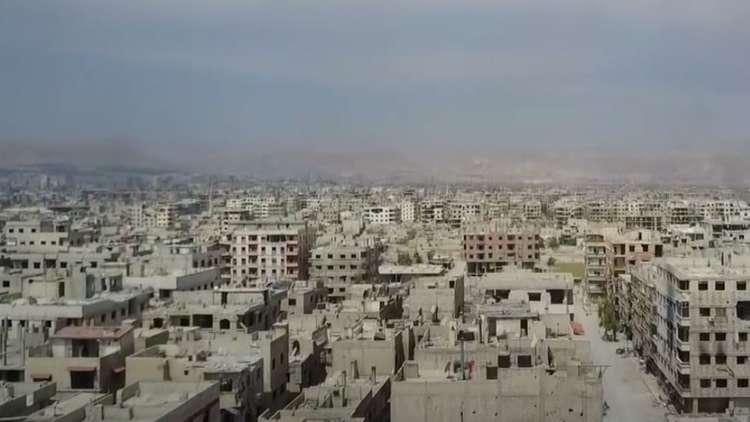 لقطات جوية من عين ترما وجوبر في ريف دمشق بعد التحرير