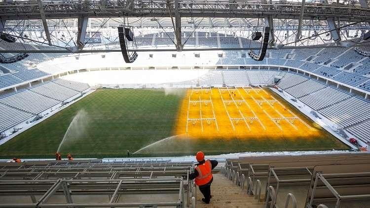 ملعب فولغوغراد جاهز لاستضافة مباريات مونديال 2018