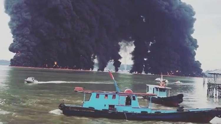 مدينة إندونيسية تعلن حالة الطوارئ بسبب تسرب نفطي