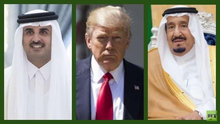 ترامب يتصل بالعاهل السعودي وأمير قطر