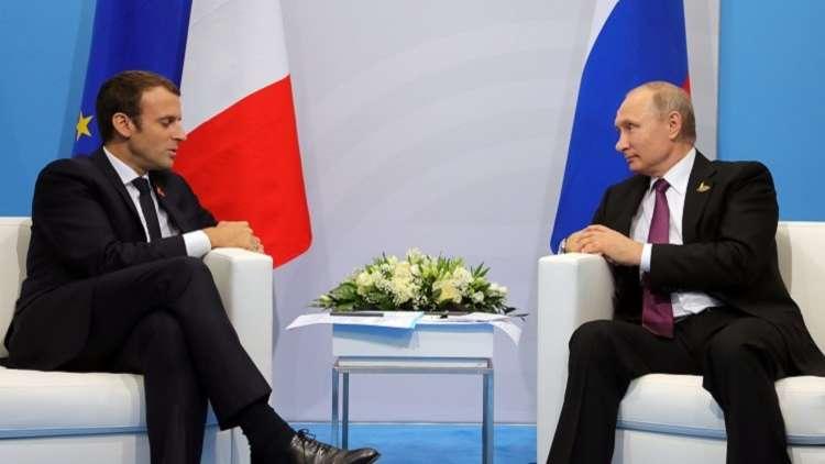 بوتين وماكرون يبحثان هاتفيا التسوية السورية وتقديم المساعدة الإنسانية