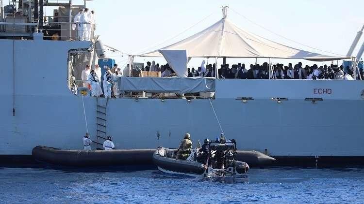 إنقاذ أكثر من 200 مهاجر غير شرعي قبالة سواحل ليبيا