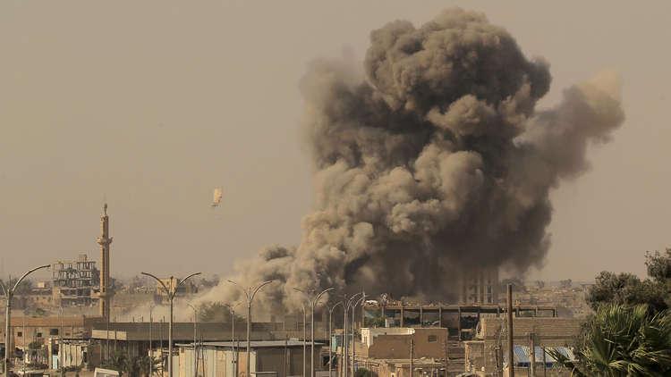 الدفاع الروسية تنشر صورا لحجم الدمار في الرقة جراء قصف التحالف الدولي