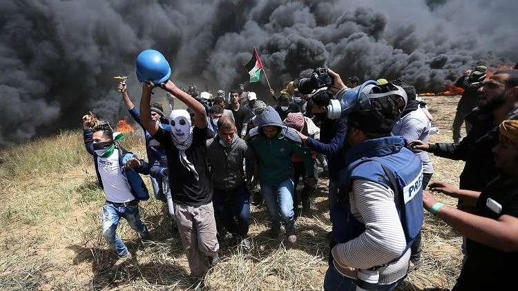 إصابة 8 فلسطينيين برصاص الجيش الإسرائيلي شرق مدينة غزة ومخيم البريج
