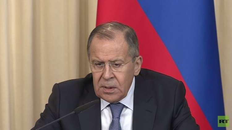 لافروف: الخبراء الروس لم يجدوا أي أثر لاستخدام الكيميائي في دوما بالغوطة الشرقية