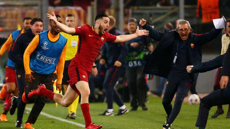 روما يقصي برشلونة من ربع نهائي أبطال أوروبا