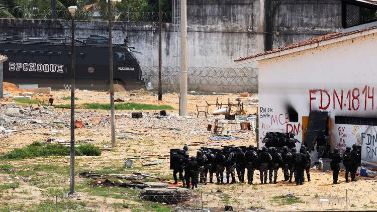 البرازيل.. أكثر من 20 قتيلا بمحاولة فرار من سجن
