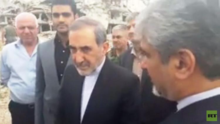 بالفيديو.. علي أكبر ولايتي يتفقد الغوطة الشرقية