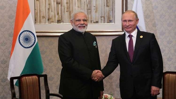 بوتين يبحث مع مودي الشراكة الاستراتيجية بين روسيا والهند
