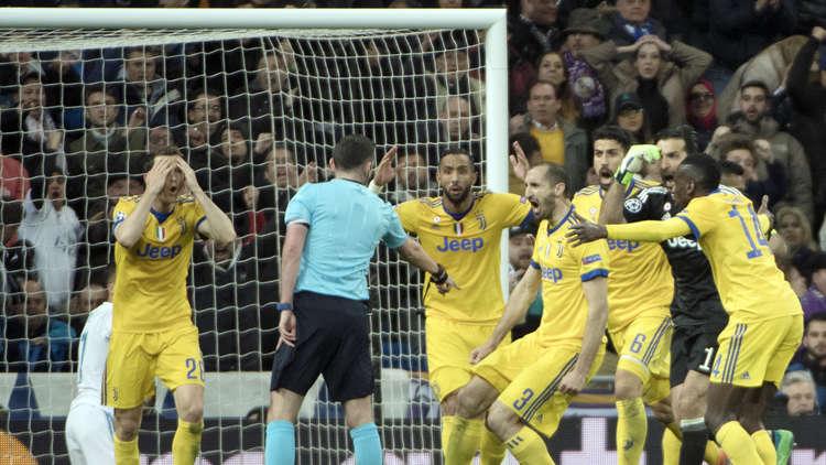 ركلة جزاء تحبط آمال يوفنتوس وتؤهل ريال مدريد