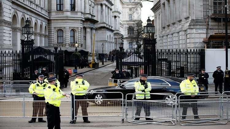 مظاهرة احتجاج وسط لندن ضد التدخل العسكري في سوريا