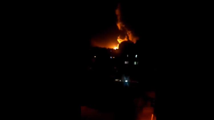 الصور الأولى للضربة الثلاثية على سوريا