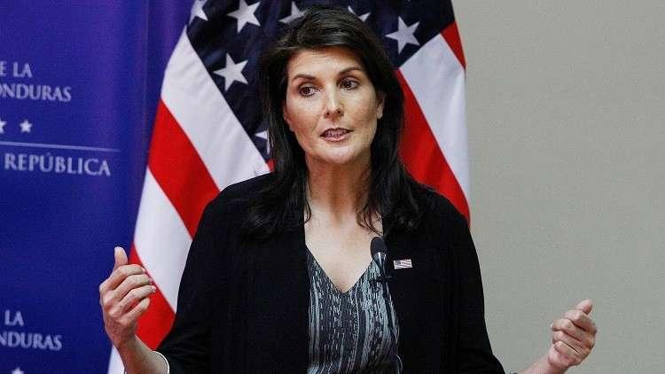 نيكي هايلي: واشنطن لن تجري أي مباحثات مع الرئيس الأسد