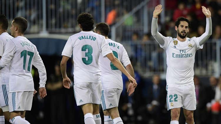 ريال مدريد يقتلع الفوز من أرض ملقا بفضل إيسكو