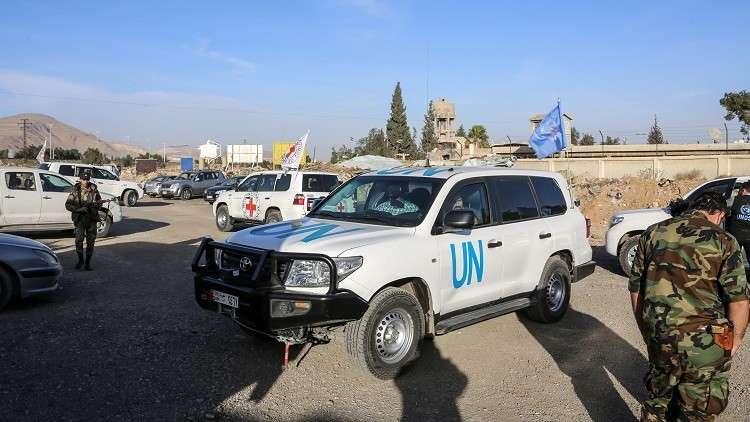 إطلاق نار على قافلة تابع للأمم المتحدة في دوما بريف دمشق