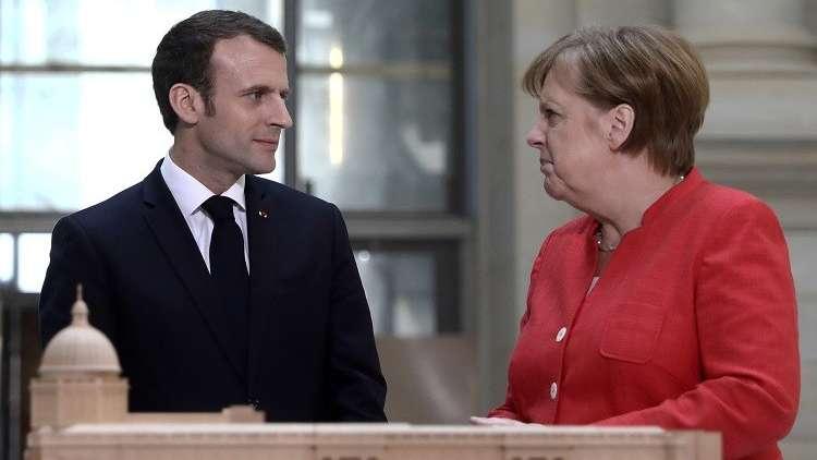 مشروع ماكرون للإصلاحات في منطقة اليورو يواجه تحفظ ميركل