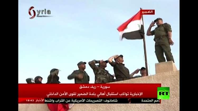 سكان الضمير يحتفلون بدخول الجيش السوري