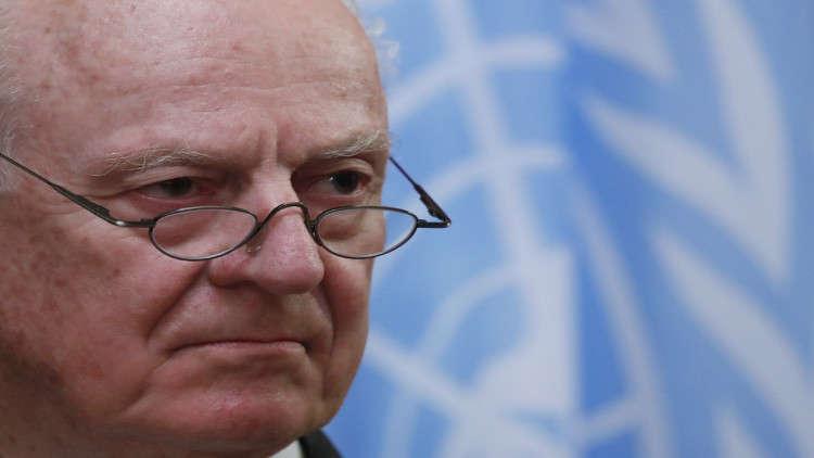 دي ميستورا يدعو دمشق إلى المزيد من التعاون مع الأمم المتحدة