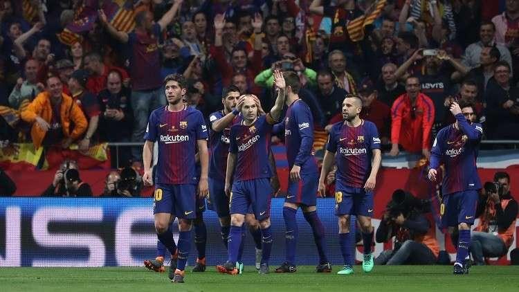 برشلونة يسحق إشبيلية بخماسية ويتوج بكأس إسبانيا
