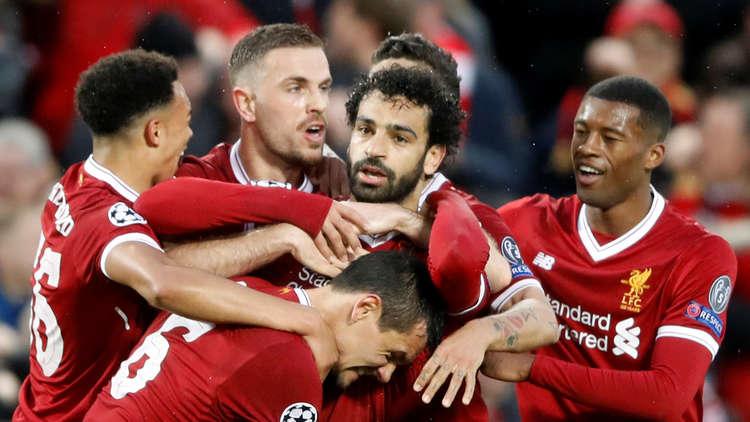 محمد صلاح يقود ليفربول لاكتساح روما في أبطال أوروبا