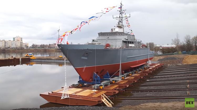 كاسحة ألغام متطورة تنضم إلى الأسطول الروسي