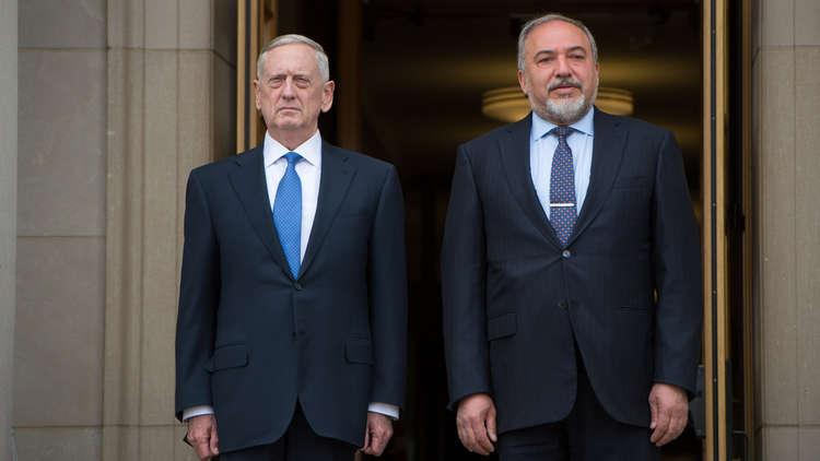 ليبرمان يبحث مع ماتيس الوجود الإيراني في سوريا ويتوعد بضرب طهران