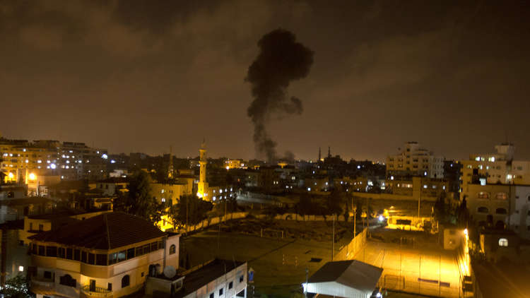 مراسلنا: غارات إسرائيلية على موقع البحرية التابع لكتائب القسام بقطاع غزة