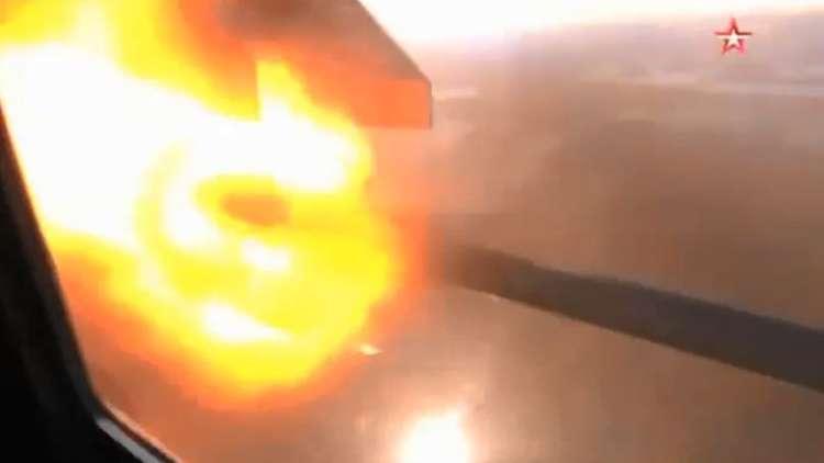 شاهد.. إطلاق حاضن صواريخ حية من مي 35