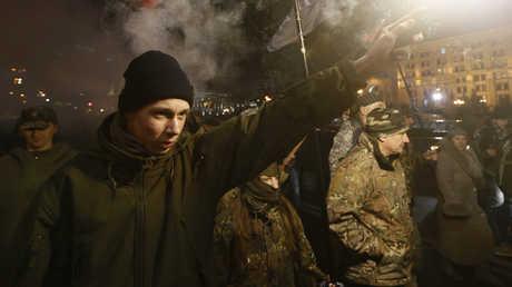 مسيرة للقوميين الأوكرانيين في كييف (صورة أرشيفية)