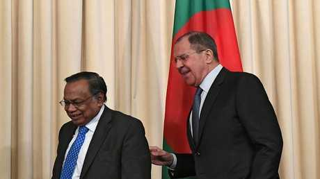 لقاء وزير الخارجية الروسي سيرغي لافروف مع نظيره البنغلاديشي أبو الحسن محمود علي في موسكو